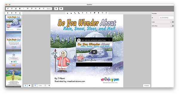 digital story book with multimedia